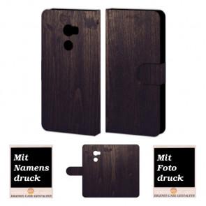 HTC One X10 Individuelle Handyhülle mit Bild Druck Holz Optik