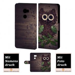 HTC One X10 Personalisierte Handyhülle mit Fotodruck Kaffee Eule