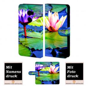 HTC One X10 Personalisierte Handyhülle mit Fotodruck Lotosblumen