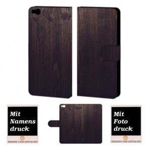 HTC One X9 Holz Optik Handy Tasche Hülle Foto Bild Druck