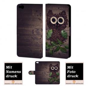 HTC One X9 Kaffee Eule Handy Tasche Hülle Foto Bild Druck