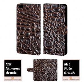 HTC One X9 Krokodil Optik Handy Tasche Hülle Foto Bild Druck