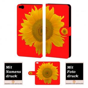 HTC One X9 Sonnenblumen Handy Tasche Hülle Foto Bild Druck