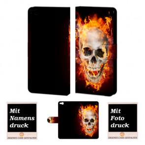 HTC One X9 Totenschädel Handy Tasche Hülle Foto Bild Druck