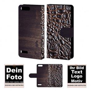 PU-Ledertasche für Huawei G6 / 4G mit Foto und Text Druck Etui