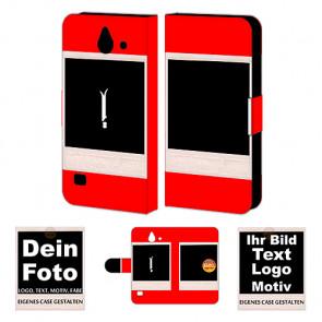 Personalisierte Handyhülle für Huawei Y550 mit Foto und Text Druck