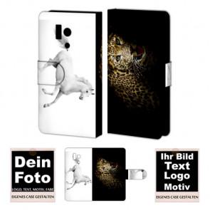 Schutzhülle Handy Tasche für Huawei Honor 3 mit Foto und Text Druck