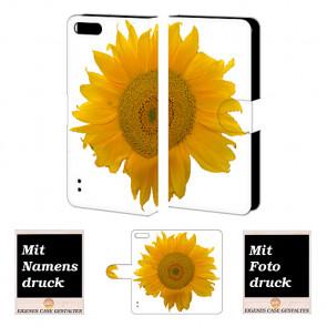 Handy Hülle mit Foto Druck Sonnenblumen für Huawei Honor 6 Plus