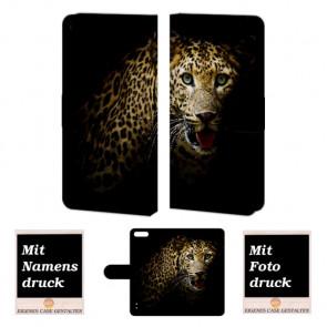 Schutzhülle Tasche für Huawei Honor 6 Plus Handy mit Leopard Bilddruck