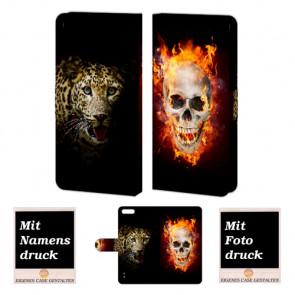 Huawei Honor 6 Plus Handy Tasche mit Bild Druck Totenschädel - Tiger