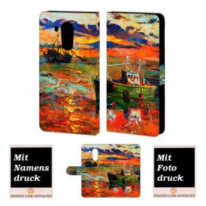 Huawei Mate 8 Handy Tasche Hülle mit Gemälde + Bild Druck