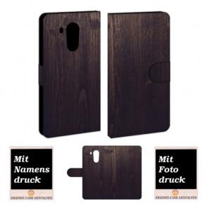 Huawei Mate 8 Schutzhülle Handy Etui mit Holz Optik Fotodruck