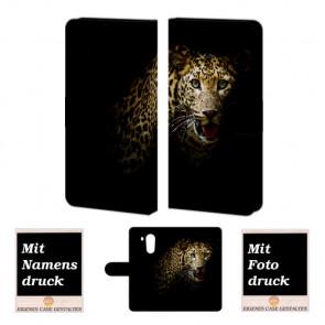 Huawei Mate 8 Handy Tasche Hülle mit Leopard +Fotodruck