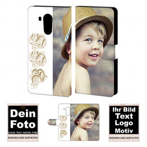 Ledertasche für Huawei  Mate 8 mit Foto und Text zum selbst gestalten