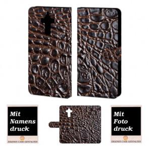 Huawei Mate 9 Krokodil Optik Handy Tasche Hülle Foto Bild Druck