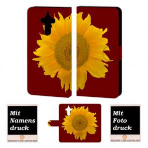 Huawei Mate 9 Sonnenblumen Handy Tasche Hülle Foto Bild Druck