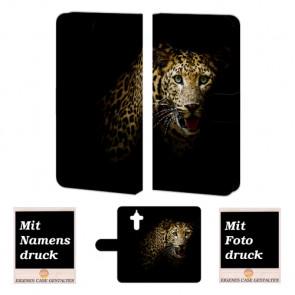 Huawei Mate 9 Schutzhülle Handy Tasche mit Fotodruck Leopard