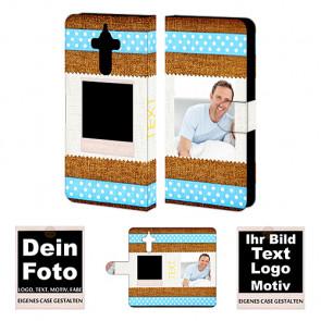 Ledertasche für Huawei  Mate 9 mit Foto und Text zum selbst gestalten