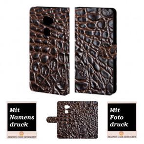 Huawei Mate S Krokodil Optik Handy Tasche Hülle Foto Bild Druck