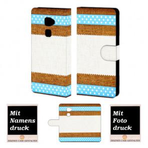 Handy Tasche Hülle für Huawei Mate S mit Muster Bild Druck