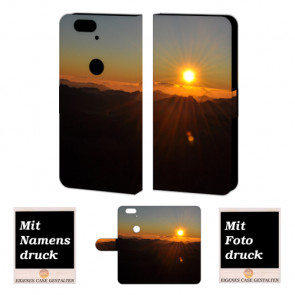Huawei Nexus 6P Handy Tasche Hülle mit Sonnenaufgang Bild Druck