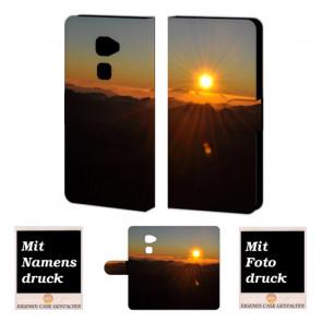 Huawei Mate S Handy Tasche Hülle mit Sonnenaufgang Bild Druck