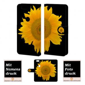 Huawei Nexus 6P Handy Tasche Hülle mit Foto Druck Sonnenblumen