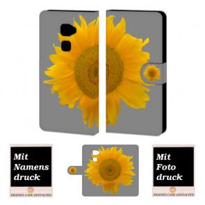 Huawei Mate S Handy Tasche Hülle mit Sonnenblumen Bild Druck