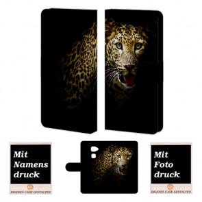Huawei Mate S Schutzhülle Handy Tasche mit Fotodruck Leopard