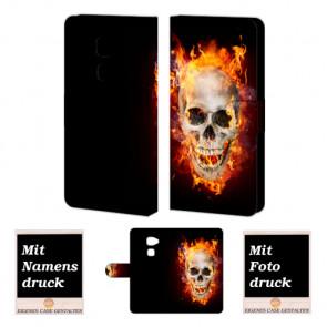 Huawei Mate S Handyhülle mit Totenschädel - Feuer Fotodruck