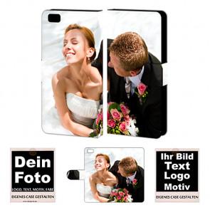 Schutzhülle Handy Tasche für Huawei P8 Lite mit Foto Namen Druck