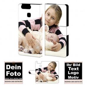 Handyhülle Shutzhülle für Huawei P9 mit Fotodruck Namen Druck