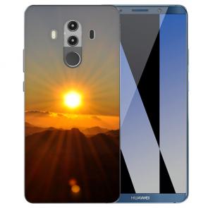 Huawei Mate 10 Pro Silikon TPU Hülle mit Sonnenaufgang Fotodruck