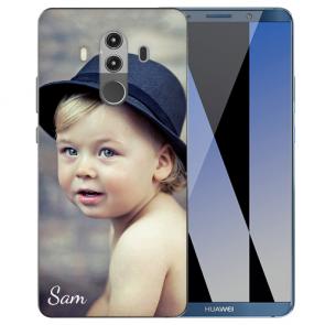Huawei Mate 10 Pro Silikon TPU Case Schutzhülle mit Foto Namen Bilddruck