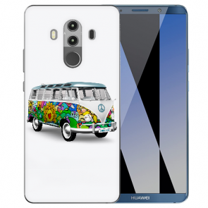 Huawei Mate 10 Pro Silikon TPU Hülle mit Hippie Bus Fotodruck