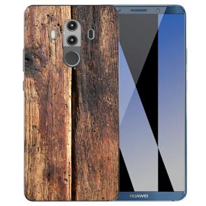 Huawei Mate 10 Pro Silikon TPU Hülle mit HolzOptik Fotodruck