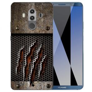 Huawei Mate 10 Pro Silikon TPU Hülle mit Monster-Kralle Fotodruck Case