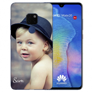 Huawei Mate 20 Silikon TPU Case Schutzhülle mit Foto Namen Bilddruck