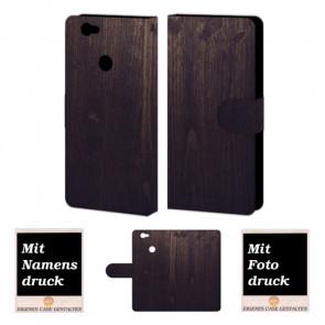 Huawei Nova Holz Optik Handy Hülle Tasche Foto Bild Druck