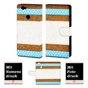Huawei Nova Muster Handy Hülle Tasche Foto Bild Druck
