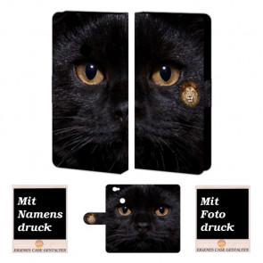 Huawei Nova Personalisierte Handyhülle mit Foto Bild Druck Schwarz Katze