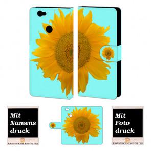 Huawei Nova Sonnenblumen Handy Hülle Tasche Foto Bild Druck