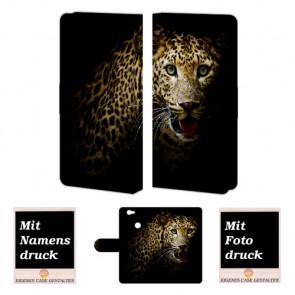Huawei Nova Tiger Handy Hülle Tasche Foto Bild Druck