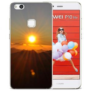 TPU Silikon Hülle mit Bilddruck Sonnenaufgang für Huawei P10 Lite