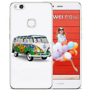 TPU Silikon Hülle mit Bilddruck Hippie Bus für Huawei P10 Lite Etui