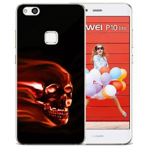 Huawei P10 Lite TPU Silikon Schutzhülle mit Bilddruck Totenschädel