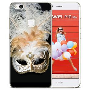 TPU Silikon Hülle mit Bilddruck Venedig Maske für Huawei P10 Lite