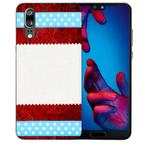 Huawei P20 Schutzhülle Silikon TPU Handy Hülle mit Fotodruck Muster