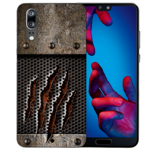 Huawei P20 Handy Hülle Silikon TPU mit Monster-Kralle Fotodruck