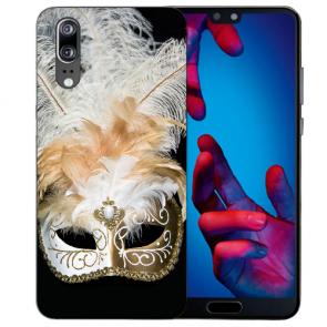 Huawei P20 Handy Hülle Silikon TPU mit Venedig Maske Fotodruck